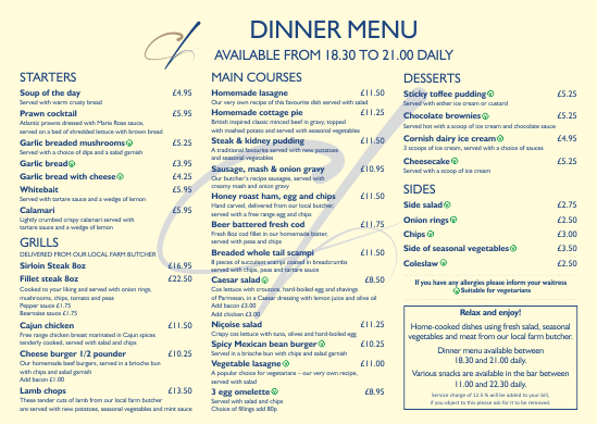 cornerhouse-main-menu
